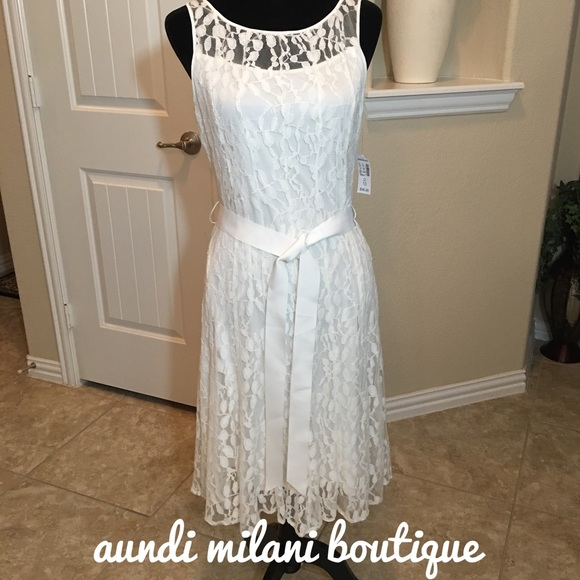 Dress Barn Dresses & Skirts - White Lace Dress